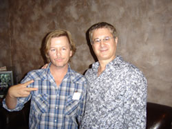 Peter hanging with comedy colleague David Spade